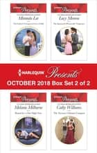 Harlequin Presents October 2018 - Box Set 2 of 2 - The Italian's Unexpected Love-Child\Bound by a One-Night Vow\The Spaniard's Pleasurable Vengeance\The Tycoon's Ultimate Conquest ekitaplar by Miranda Lee, Melanie Milburne, Lucy Monroe,...