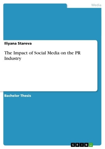 The Impact of Social Media on the PR Industry ebook by Iliyana Stareva