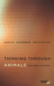 Thinking Through Animals - Identity, Difference, Indistinction ebook by Matthew Calarco
