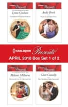 Harlequin Presents April 2018 - Box Set 1 of 2 - Castiglione's Pregnant Princess\Blackmailed into the Marriage Bed\Vieri's Convenient Vows\Her Wedding Night Surrender ekitaplar by Lynne Graham, Melanie Milburne, Andie Brock,...