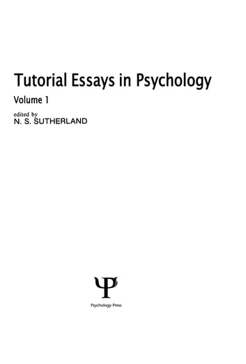 tutorial essays in psychology volume 1 ebook by