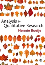Analysis in Qualitative Research ebook by Hennie R Boeije