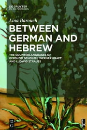 Between German and Hebrew - The Counterlanguages of Gershom Scholem, Werner Kraft and Ludwig Strauss ebook by Lina Barouch