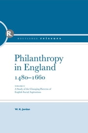 Philanthropy in England ebook by Taylor and Francis