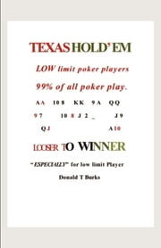 LOW LIMIT POKER BOOK ebook by Donald Burks