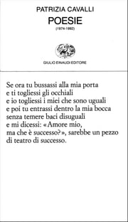 Poesie (1974-1992) ebook by Patrizia Cavalli