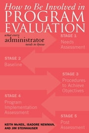 How to be Involved in Program Evaluation - What Every Adminstrator Needs to Know ebook by Keith McNeil,Isadore Newman,Jim Steinhauser