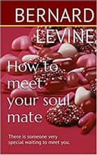 How to meet your soul mate: There is someone very special waiting to meet you eBook by Bernard Levine