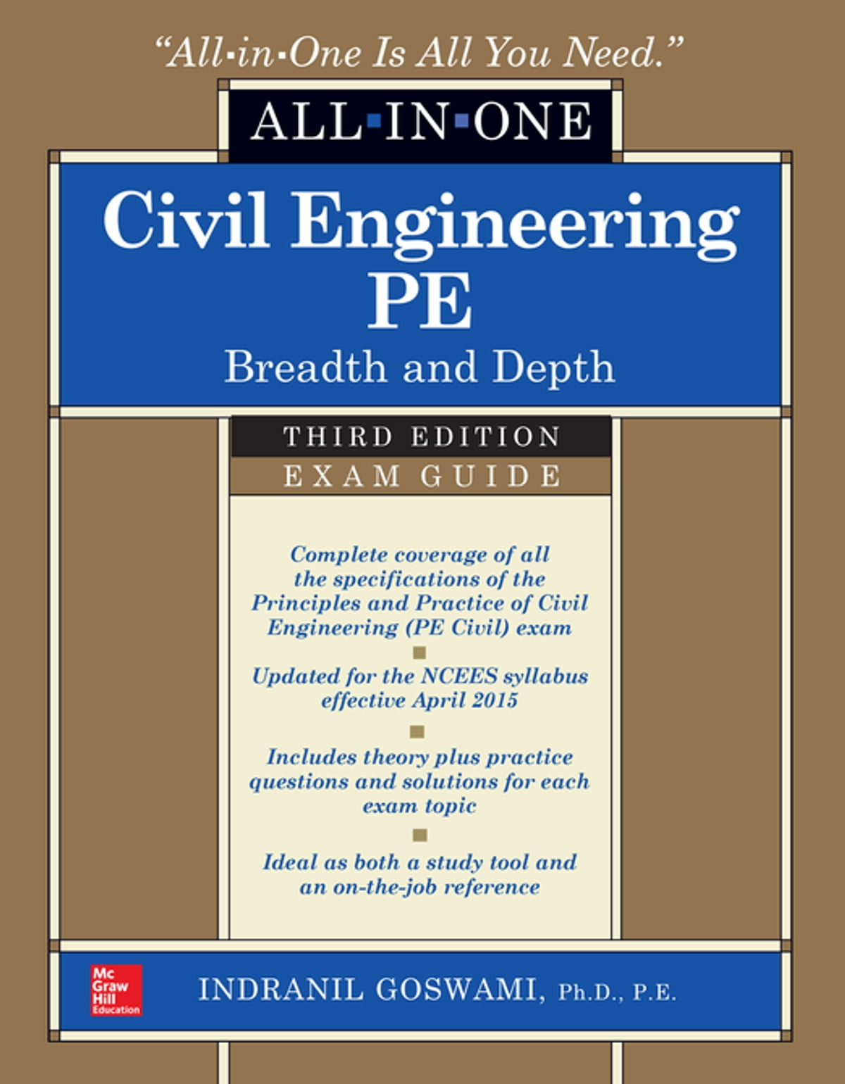 Civil Engineering All-In-One PE Exam Guide: Breadth and Depth, Third  Edition eBook by Indranil Goswami - 9780071825511 | Rakuten Kobo