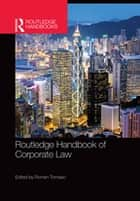 Routledge Handbook of Corporate Law ebook by Roman Tomasic