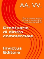Prontuario di Diritto Commerciale ebook by AA.VV.