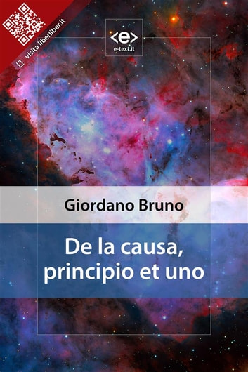 De la causa, principio et uno ebook by Giordano Bruno