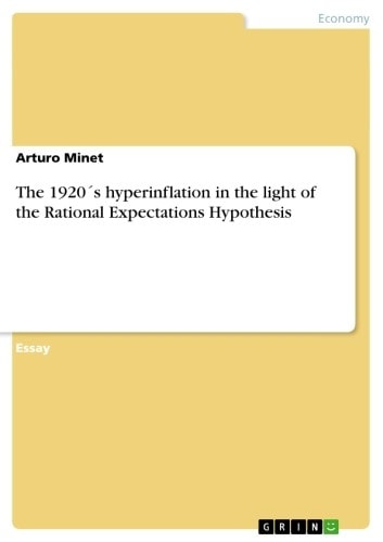The 1920´s hyperinflation in the light of the Rational Expectations Hypothesis ebook by Arturo Minet