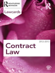 Contract Lawcards 2012-2013 ebook by Routledge