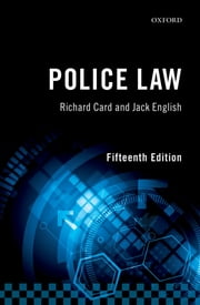 Police Law ebook by Kobo.Web.Store.Products.Fields.ContributorFieldViewModel