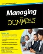 Managing For Dummies ebook by Bob Nelson, Peter Economy