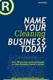 Name Your Cleaning Business Today ebook by Daniel Bablo