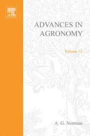 Advances in Agronomy ebook by Norman, A.G.
