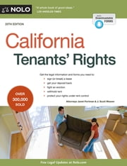 California Tenants' Rights ebook by Janet Portman, JD,J. Scott Weaver, Attorney