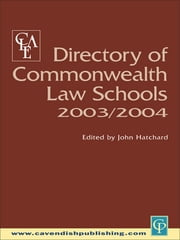 Directory of Commonwealth Law Schools 2003-2004 ebook by Clea