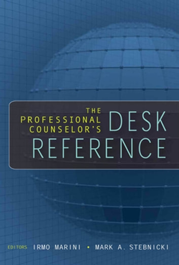 The Professional Counselor's Desk Reference ebook by