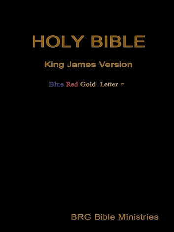 Holy Bible  Blue, Red and Gold Letter