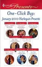 One-Click Buy: January 2010 Harlequin Presents ebook by Natalie Anderson, Sharon Kendrick, India Grey,...