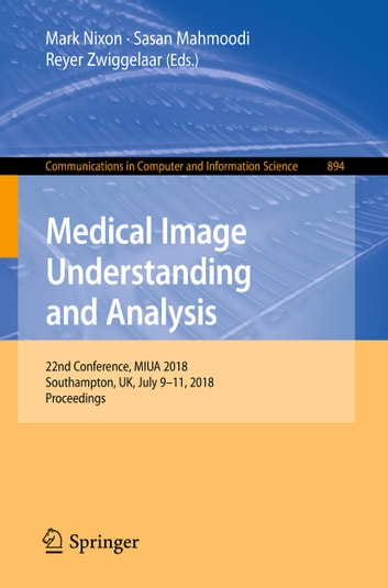 Medical Image Understanding And Analysis Ebook By 9783319959214