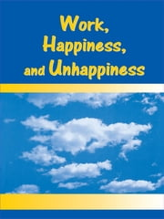 Work, Happiness, and Unhappiness ebook by Peter Warr