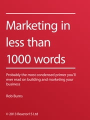 Marketing In Less Than 1000 Words ebook by Rob Burns
