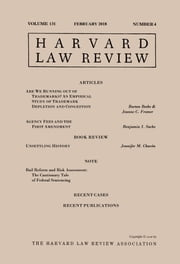 Harvard Law Review: Volume 131, Number 4 - February 2018 ebook by Harvard Law Review