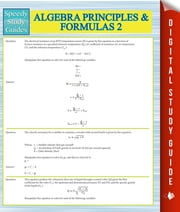 Algebra Principles And Formulas 2 (Speedy Study Guides) ebook by Speedy Publishing