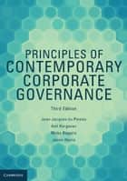 Principles of Contemporary Corporate Governance ebook by Jean Jacques Du Plessis, Anil Hargovan, Mirko Bagaric,...