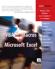 VBA and Macros for Microsoft Excel ebook by Jelen, Bill