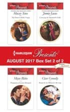 Harlequin Presents August 2017 - Box Set 2 of 2 - An Anthology ebook by Maisey Yates, Maya Blake, Jennie Lucas,...