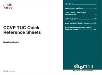 CCVP TUC Quick Reference Sheets ebook by David McDaniel