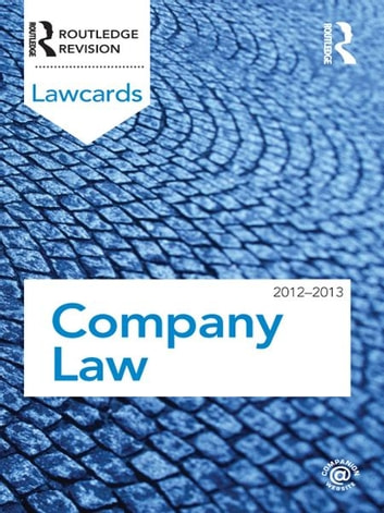 Company Lawcards 2012-2013 ebook by Routledge