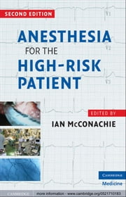 Anesthesia for the High-Risk Patient ebook by Ian McConachie