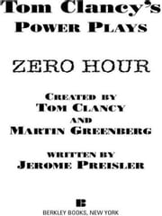 Zero Hour - Power Plays 07 ebook by Tom Clancy,Martin H. Greenberg,Jerome Preisler