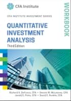 Quantitative Investment Analysis Workbook ebook by Richard A. DeFusco, Dennis W. McLeavey, David E. Runkle,...