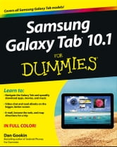 Samsung Galaxy Tab 10.1 For Dummies ebook by Dan Gookin