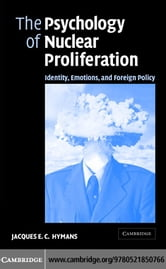 Psychology Nuclear Proliferation ebook by Hymans, Jacques E. C.