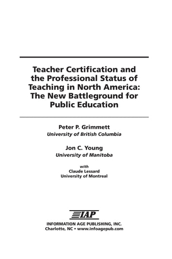 teacher certification and the professional status of teaching in ...