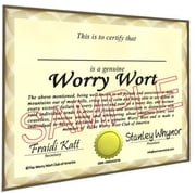 Worry Wort Certificate and Membership Card ebook by Bob Proko