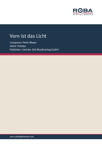 Vorn ist das Licht - Single Songbook; as performed by Puhdys ebook by Wolfgang Tilgner