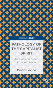 Pathology of the Capitalist Spirit - An Essay on Greed, Loss, and Hope ebook by David Levine