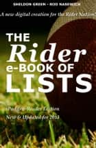 The Rider e-Book of Lists: iPad and e-Reader Edition ebook by Sheldon Green,Rod Nasewich