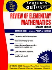 Schaum's Outline of Review of Elementary Mathematics ebook by Rich, Barnett