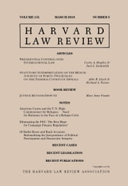 Harvard Law Review: Volume 131, Number 5 - March 2018 ebook by Harvard Law Review