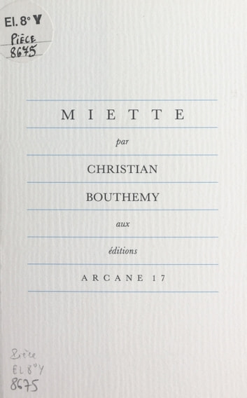 Miette ebook by Christian Bouthemy